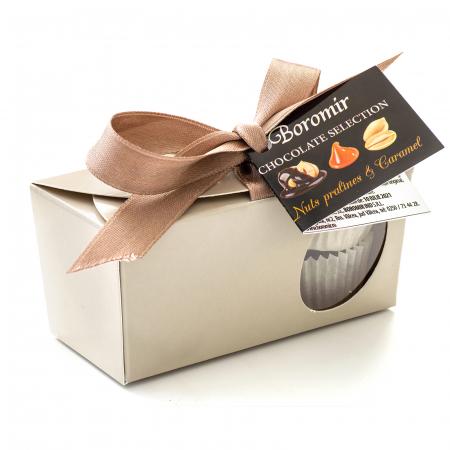Praline de Ciocolată cu Unt de Arahide, Caramel Sărat și Cremă Alunetta 65g [0]