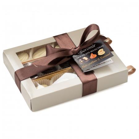 Praline de Ciocolată cu Unt de Arahide, Caramel Sărat și Cremă Alunetta 140g [0]