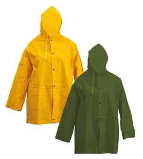 Jacheta impermeabila cu gluga, PVC pe suport textil 0