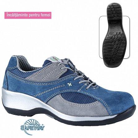 Pantofi dama spalt bovina DORA S1P SRC 0
