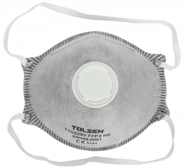 Semimasca praf carbon Tolsen FFP2 cu supapa 0
