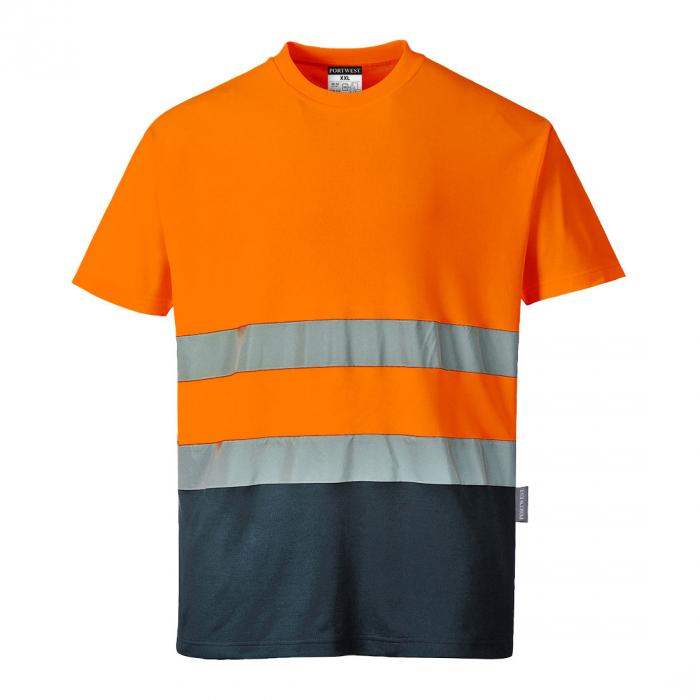 Tricou Bicolor din Bumbac Confort S173 0