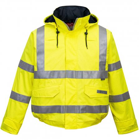 Jacheta de ploaie HiVis Bizflame, Antistatica, Ignifuga S7730