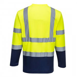 Tricou Doua-Tonuri Cotton Comfort cu Maneci Lungi S2801