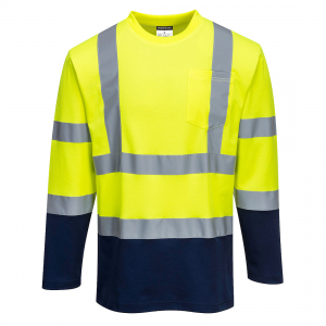 Tricou Doua-Tonuri Cotton Comfort cu Maneci Lungi S2800