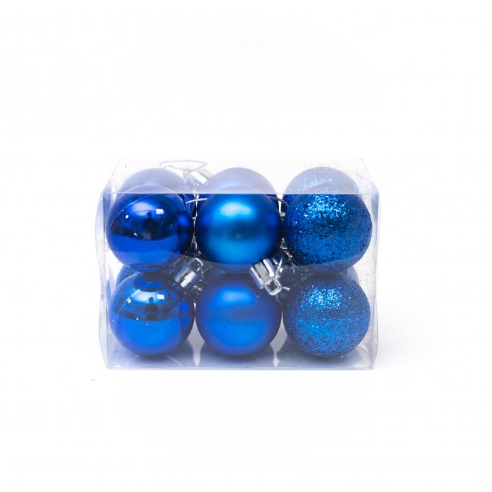 Set 12 Globuri Albastre, 4cm 1