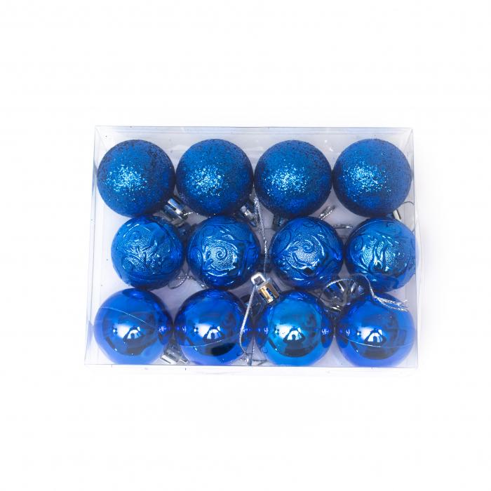 Set 33 de Globuri si Figurine Brad, Albastre,decoratiuni de Craciun [6]