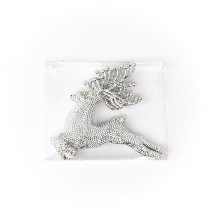 Set 33 de Globuri si Figurine Brad, Argintii,decoratiuni de Craciun [4]