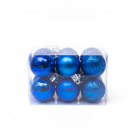 Set 12 Globuri Albastre, 4cm1