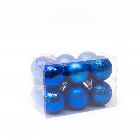 Set 12 Globuri Albastre, 4cm0