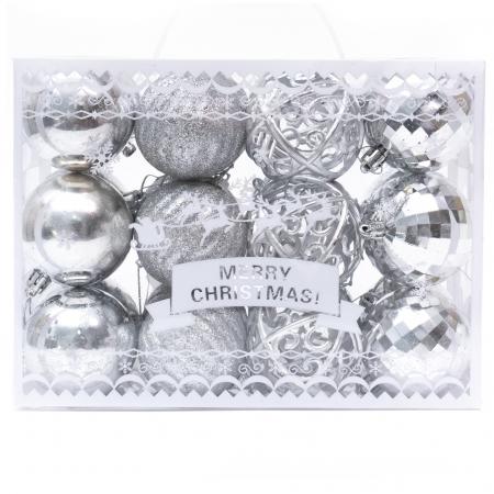 Set 24 de Globuri Argintii, 6cm [1]
