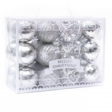 Set 24 de Globuri Argintii, 6cm [0]