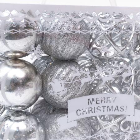 Set 24 de Globuri Argintii, 6cm [2]