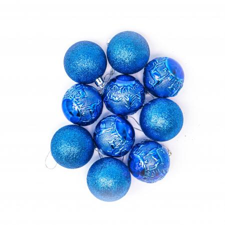 Set 33 de Globuri si Figurine Brad, Albastre,decoratiuni de Craciun [7]