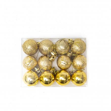 Set 33 de Globuri si Figurine Brad, Aurii,decoratiuni de Craciun [5]