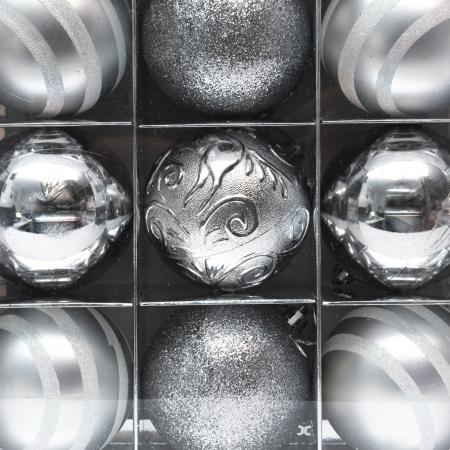 Set 9 Globuri Maxi Argintii, 8cm [2]