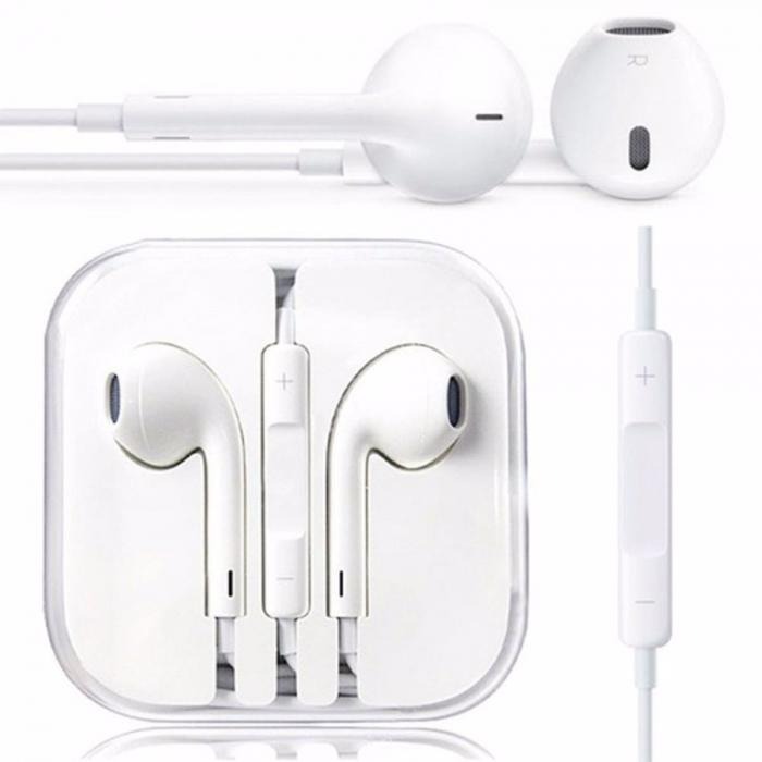 Casti handsfree iPhone 5 5s 5c 6 6s 7 compatibile [0]