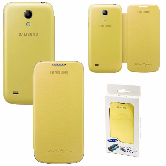 Husa Samsung Galaxy S4 mini i9195 EF-FI919BBEGWW originala galbena [0]