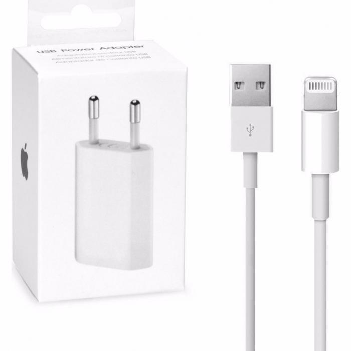 Incarcator si cablu de date Apple iPhone 5 5s 6 6s 7 original in cutie [0]