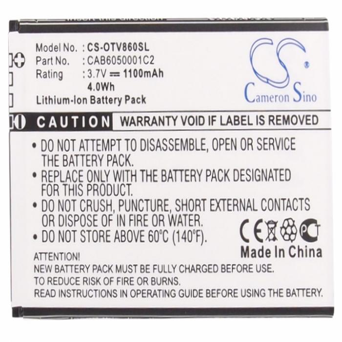 Acumulator Alcatel One Touch V860 Vodafone Smart II CAB6050001C2 Compatibil [0]