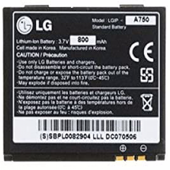 Acumulator LG KE820 Prada KE850 KG99 KE800 LGIP-A750 [0]