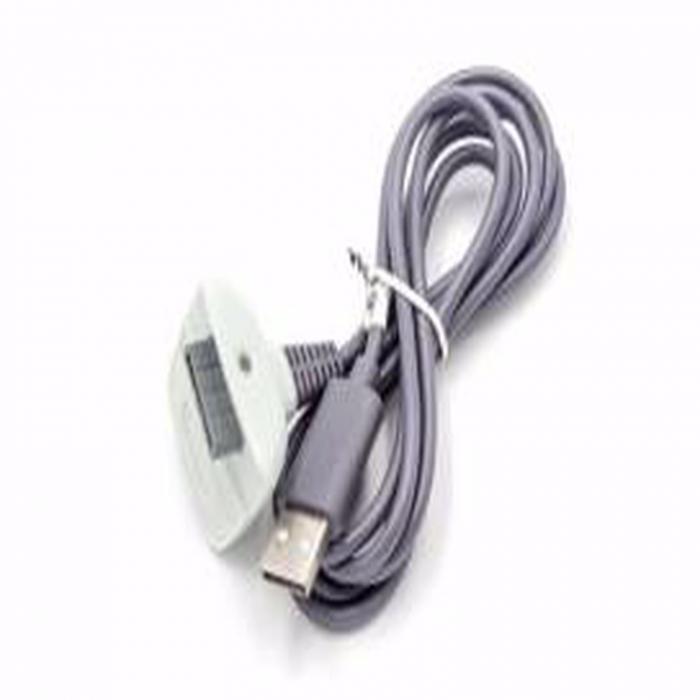 Cablu de încărcare USB pentru controlerul XBOX 360 gri [0]