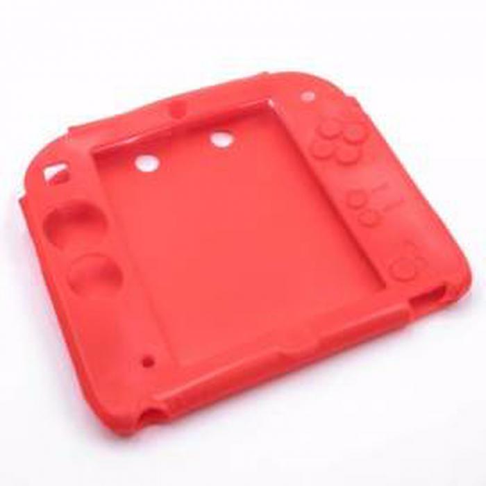 Husă carcasă din silicon roșu pentru Nintendo 2DS [0]