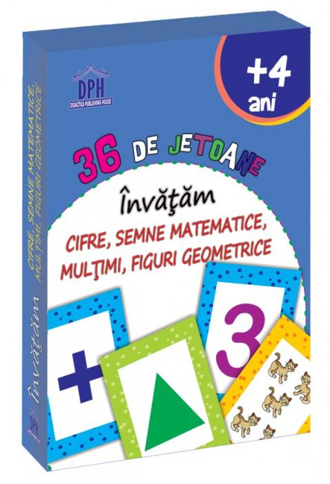 36 DE JETOANE - INVATAM - CIFRE, SEMNE MATEMATICE, MULTIMI, FIGURI GEOMETRICE 0