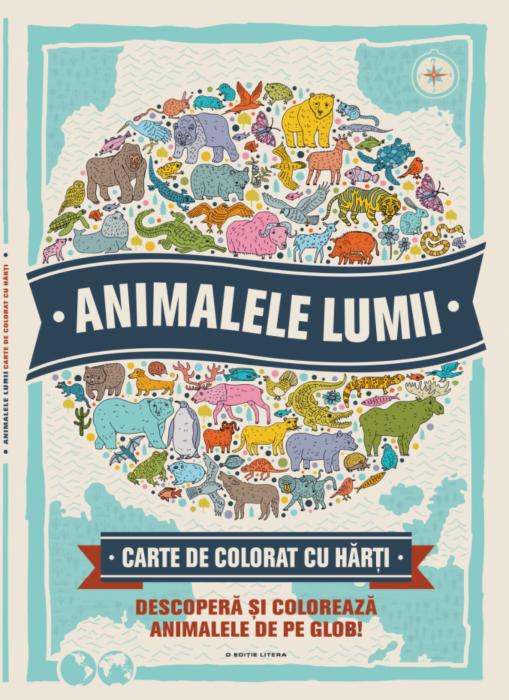 Animalele lumii. Carte de colorat cu harti 0