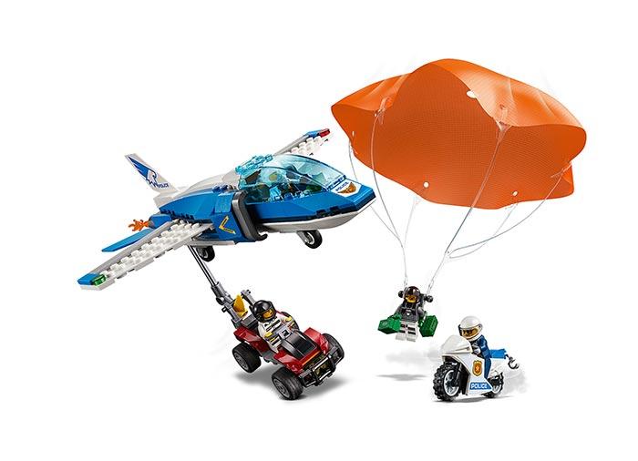 Arest cu parasutisti al politiei aeriene (60208) - Lego City 3
