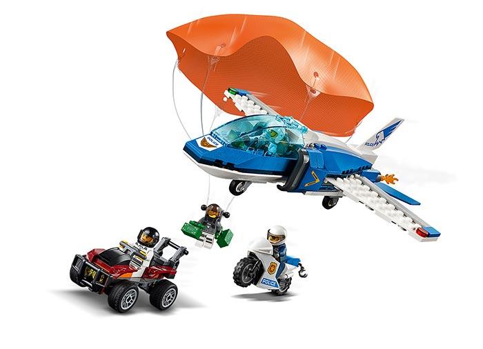 Arest cu parasutisti al politiei aeriene (60208) - Lego City 2