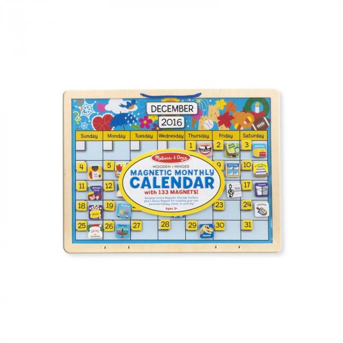 Calendar magnetic din lemn 2