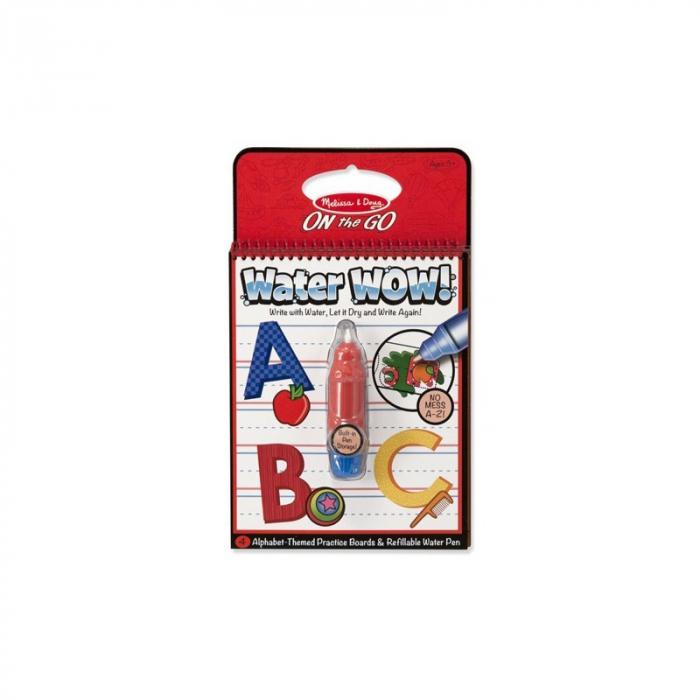 Carnet de colorat cu apa - Literele (Water Wow) 0