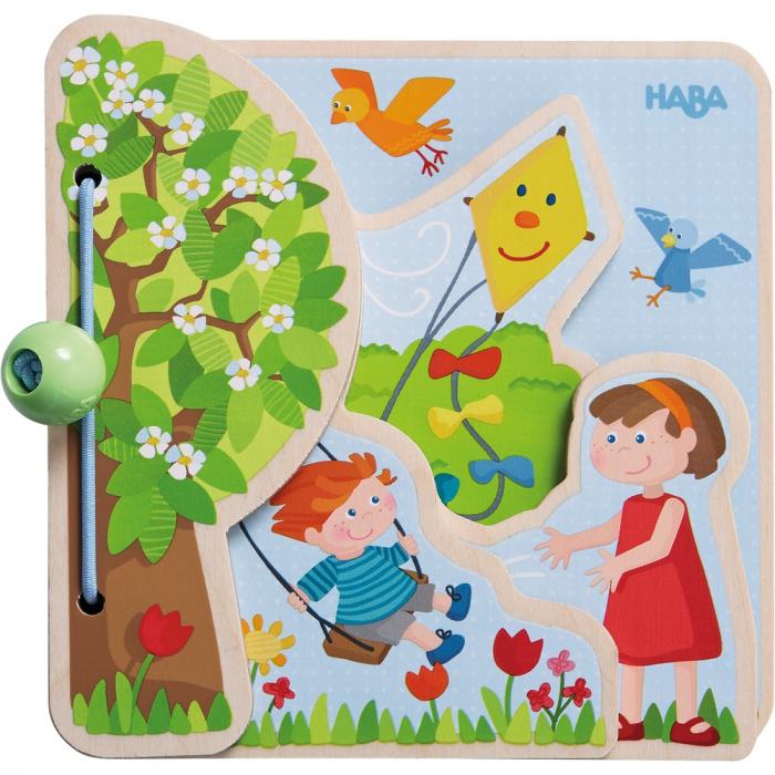 Carte din lemn pentru bebelusi - Cele patru anotimpuri 1