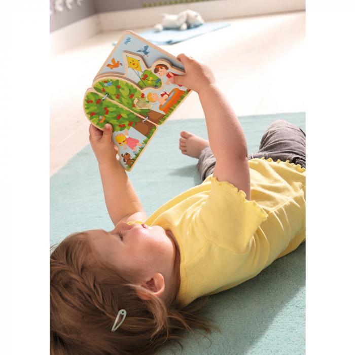 Carte din lemn pentru bebelusi - Cele patru anotimpuri 0