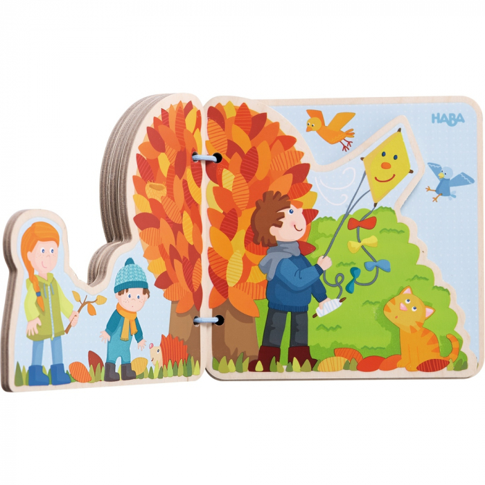 Carte din lemn pentru bebelusi - Cele patru anotimpuri 2
