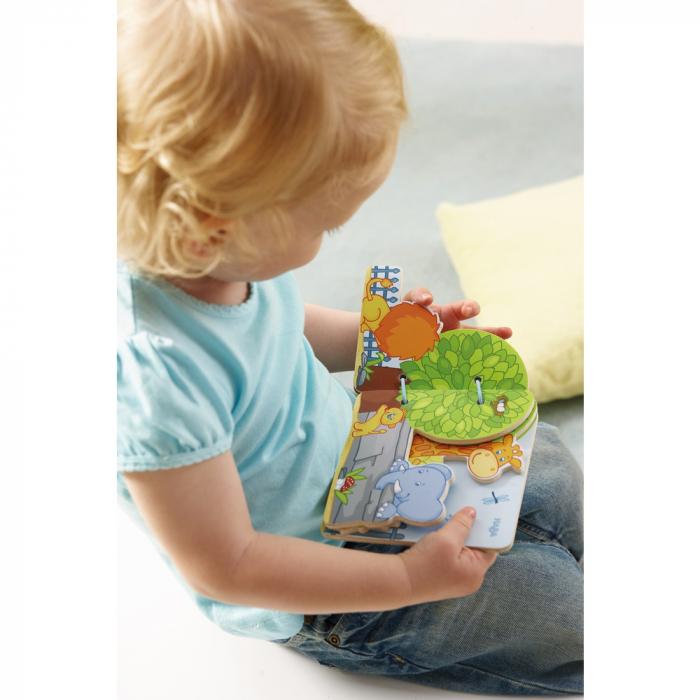 Carte din lemn pentru bebelusi - Prietenii de la zoo 1
