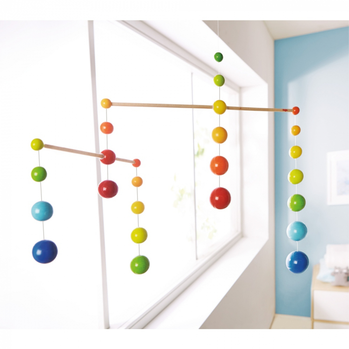 Carusel lemn - Mobile Rainbow Balls 0