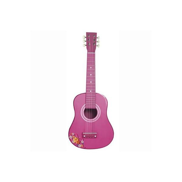 Chitara din lemn - Roz 0