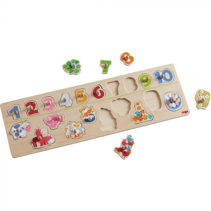 Clutching Puzzle Animals by number 2