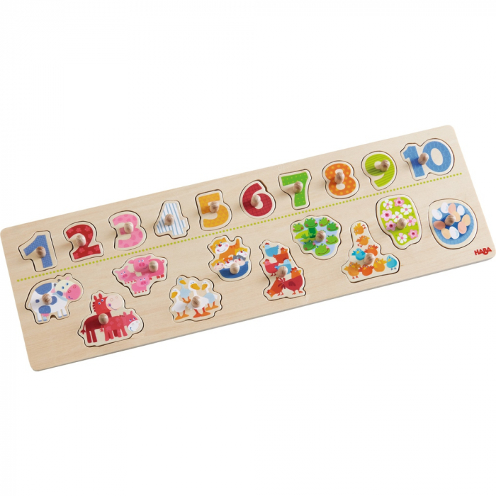 Clutching Puzzle Animals by number 1