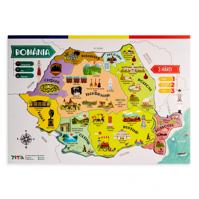 Construieste Romania - Puzzle stratificat 3