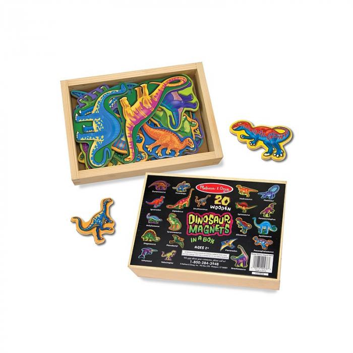 Dinozauri din lemn cu magneti 1