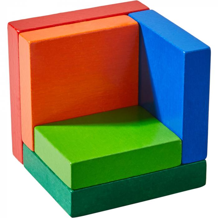 Joc de aranjare - Cub 3D curcubeu [2]