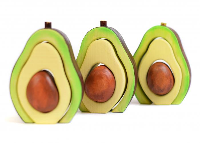 Jucarie pentru stivuit - Avocado 3
