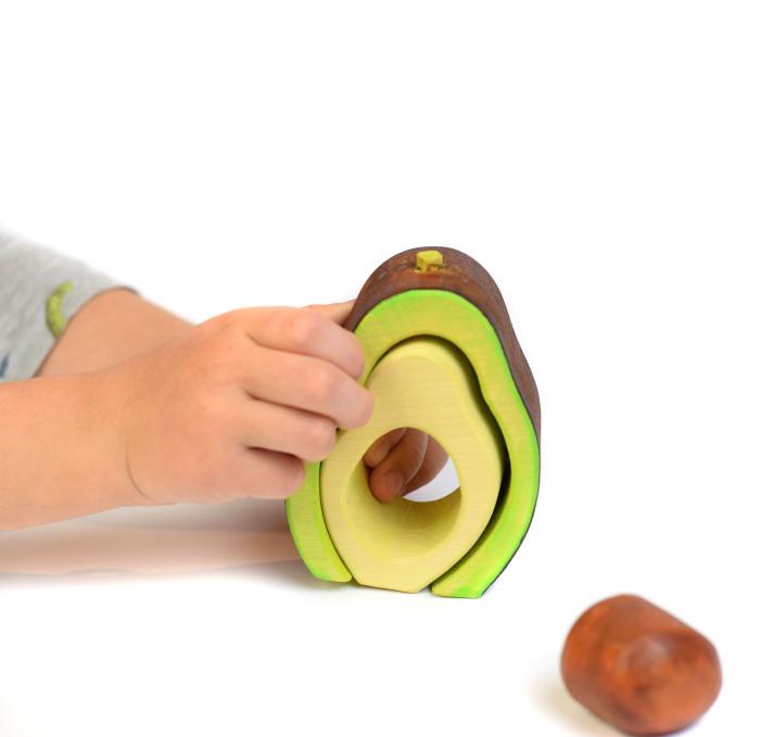 Jucarie pentru stivuit - Avocado 4