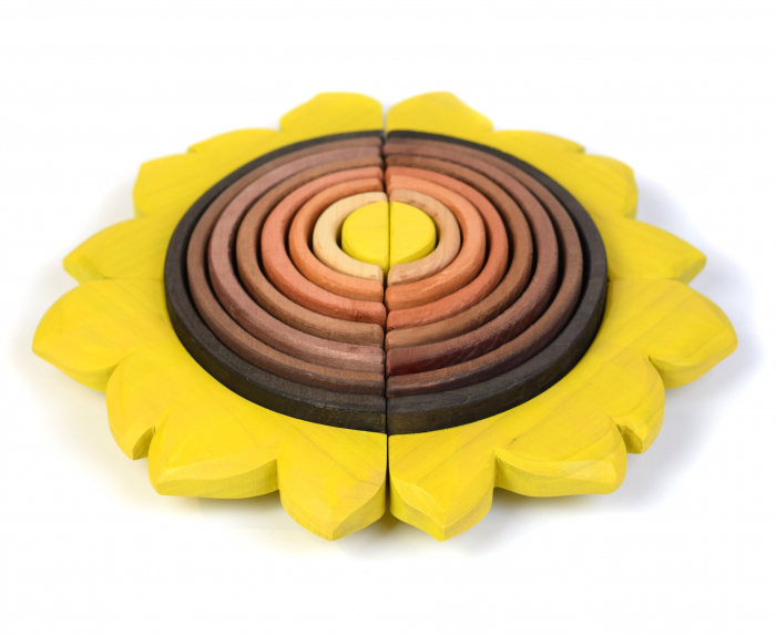 Jucarie pentru stivuit - Floarea soarelui 5