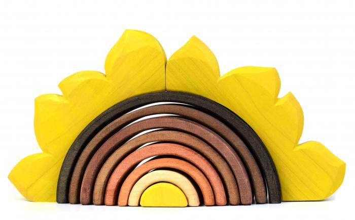 Jucarie pentru stivuit - Floarea soarelui 0