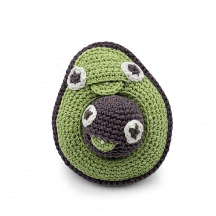 Jucarie tricotata - Mama avocado si bebe 2