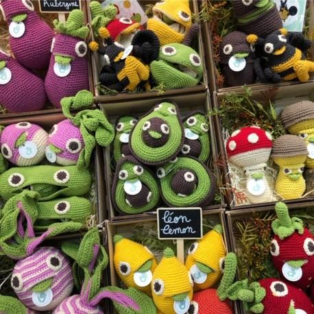 Jucarie tricotata - Mama avocado si bebe 0